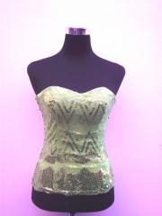 Green Lace Up Corset