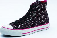 Converse All Star Hi-Cut Shoes Black White Azalea