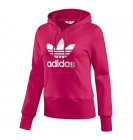 Adidas Trefoil Pink Cotton Womens Hoody