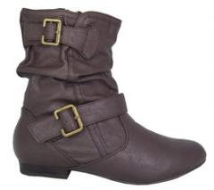 Ladies Ankle Boots - BROWN