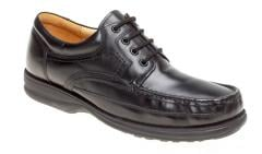 Size 14 Mens Shoes Black Lace Up Leather By