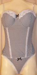 Gingham Basque & Thong