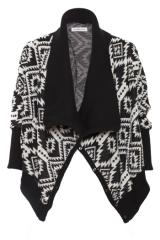 Bold patterned cardigan