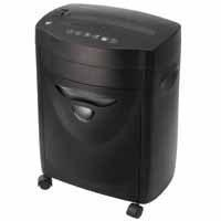 Q-Connect Cross-Cut Shredder 10-Sheet Black