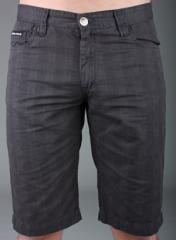 Mens Prep Shorts (Grey Check) By Criminal Damage