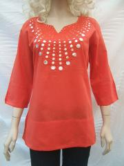 Monsoon Tunic top silver sequin design