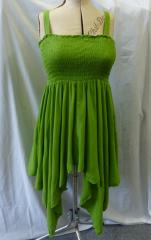 Boho sexy strappy top dress lime green