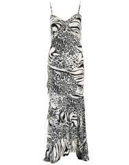 Diamonte Animal Print Maxi Dress