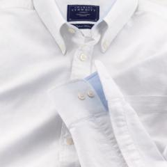 White washed Oxford casual shirt