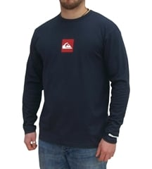 Quiksilver Red Box Navy Long Sleeve T-Shirt