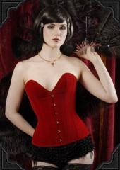 Cabaret Corset in Red Velvet