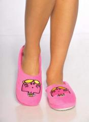 Little Miss Chatterbox fluffy Slippers - bright