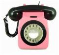 Designer Telephone - Pink and Black