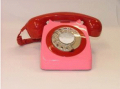 Designer Telephone - Pink and Red