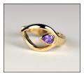 Echo Toe Ring with Amethyst