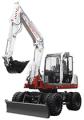 Takeuchi TB175W- Fully Hydraulic Wheeled Compact Excavator