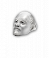 Silver Lenin Hero and Villain Ring