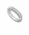 White Gold and Diamond Seven Stone Reveal Eternity Band
