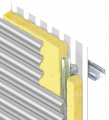 HorizontalWall Cladding System with Glass Fibre Insulation – 0.35 'U'Value