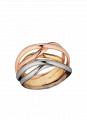 Gold Ring Aqua Wave