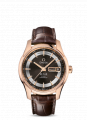 Red gold on leather strap De Ville Watch