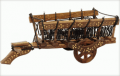 Hand Carved Wooden Cart