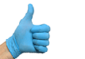 Gloves, Blue nirtrile strong disposable