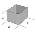 Polypropylene stacking boxes SBP112