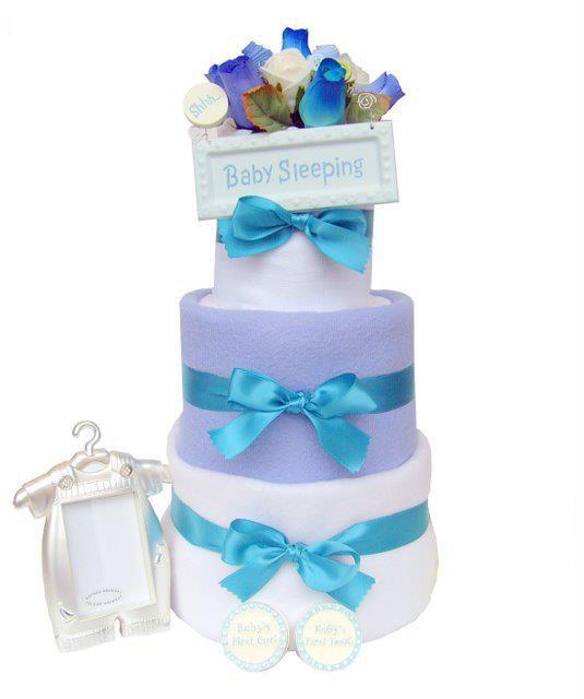 Order Baby Boy 3 Tier Nappy Cake