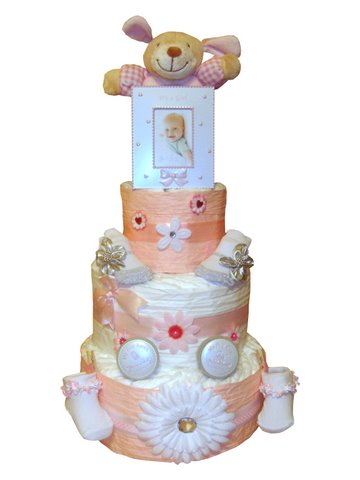 Order Newborn Baby Girl 3 Tier Nappy Cake