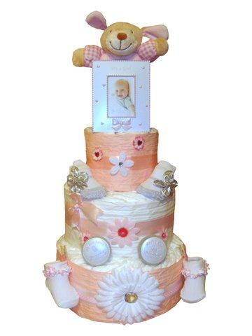 Order Newborn Baby Girl 3 Tier Nappy Cake