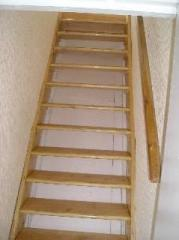 Softwood Paddle Tread Loft Stairs