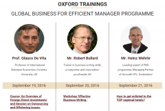 GLOBAL BUSINESS FOR EFFICIENT MANAGER PROGRAMME