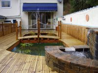 Water Feature and Decking